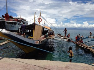 The outrigger canoe to Capul