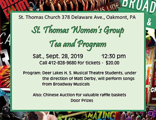 St  Thomas Women's Group Tea and Program – Episcopal Diocese